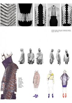 Fashion Portfolio - fashion design development board; fashion illustration; fashion sketchbook // Katie Roberts-Wood