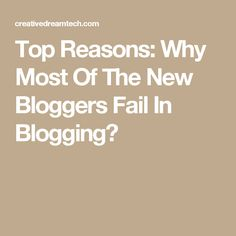 Top Reasons: Why Most Of The New Bloggers Fail In Blogging? Make Money Online, How To Make Money, Fails, How To Start A Blog, Blogging, Social Media, Top, Make Mistakes, Social Networks