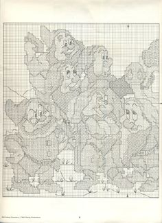 Paragon ~ Walt Disney Characters In Counted Cross Stitch #5 ~ Snow White & Seven Dwarfs