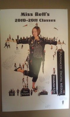 Photos of my students in class hanging all over me. They signed it like a yearbook at the end of the year.