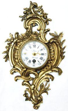 """Ornate Balhazar A Paris Clock, 10"""" x 6"""" x 2"""""""