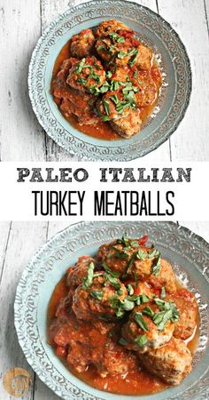 Paleo Italian Turkey Meatballs - an easy dinner that makes great leftovers for lunch!