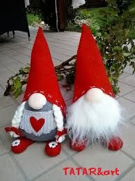 "I wanted to share our collection of Christmas gnomes. They are called Nisse (Norwegian) or Tomte (Swedish). Tomte literally means ""Homestead Man"" so I thought Christmas Gnome, Christmas Sewing, Christmas Projects, Felt Crafts, Holiday Crafts, Hobbies And Crafts, Diy And Crafts, Felt Ornaments, Christmas Ornaments"