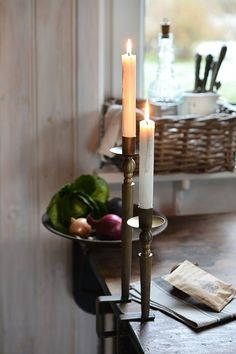 Holiday Dinner, Scandinavian Style, Candle Holders, Candles, Simple, Inspiration, Home, Biblical Inspiration, Ad Home