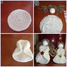 Christmas Inspirations, Photo Practices, Page 5 Artmama. Crochet Christmas Decorations, Crochet Decoration, Christmas Crochet Patterns, Holiday Crochet, Christmas Sewing, Christmas Crafts, Doll Crafts, Sewing Crafts, Creative Homemade Gifts