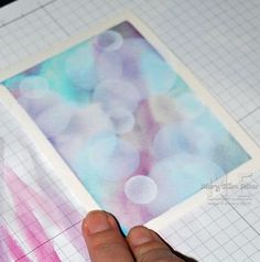 best Bokeh Technique tutorial I've seen yet!~Step by Step Picture Tutorial (Create With M.)The best Bokeh Technique tutorial I've seen yet!~Step by Step Picture Tutorial (Create With M. Card Making Tips, Card Making Tutorials, Card Making Techniques, Making Ideas, Caran D'ache, Colouring Techniques, Watercolor Cards, Watercolour Art, Tampons