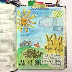 Bible journaling, Parable of the Sower, Matthew 13:1-9 — Arden Ratcliff-Mann