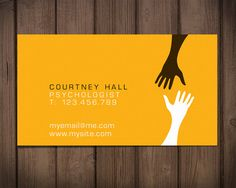 "Premade business card design / therapist card /  ""Hands"""