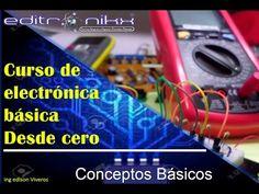 curso de electronica basica desde cero - curso que avarca todo lo basico relacionado a electronica, desde conceptos basicos, manejo de protoboard, soldadura, electronica analoga y digital