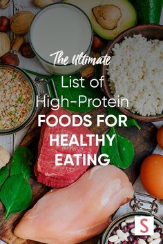 Hit your protein quota with this list of dietitian-approved high-protein foods that fit within any eating style. Protein Foods List, Protein Diets, High Protein Recipes, Healthy Recipes, Salad Recipes, Nutrition Plans, Healthy Nutrition, Nutrition Guide, Healthy Eats