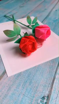 Cool Paper Crafts, Paper Flowers Craft, Paper Crafts Origami, Flower Crafts, Diy Crafts Hacks, Diy Crafts For Gifts, Diy Arts And Crafts, Creative Crafts, Instruções Origami