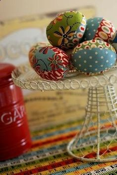 Vintage Fabric Easter Eggs