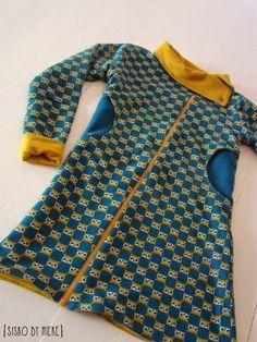 """dress made from basic pattern sweater 'stof voor duref het zelfvers 2"""""""