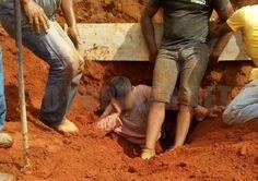 #News  Jovem fica soterrado em obra em Carmo de Minas