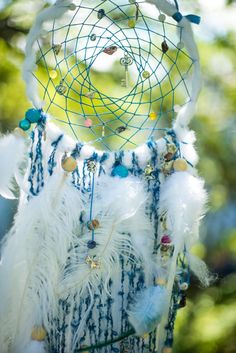 Wall hanging Dream catcher Hippie dream by MysteriousForests