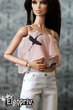 elenpriv White PANTS for Fashion royalty FR2 body doll #elenprivbyElenaPeredreeva