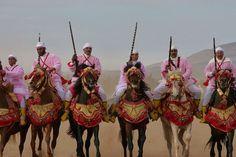 Fantasia at Beni Drar in the region of Oujda, Morocco, region Oriental.