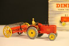 dinky toys farm tractor and hay rake nr 310