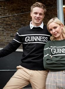 Guinness Crew Neck Sweater: Our official Guinness crew neck sweater is comfortable, eye-catching and is a fantastic reminder of the Emerald Isle. Irish Fashion, Woolen Mills, Emerald Isle, Sweater Shop, Guinness, Women Wear, Crew Neck, Ireland, Sweaters