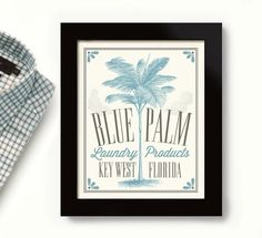 Key West Laundry Room Decor Florida Art Palm Tree Laundry Sign Bathroom Art Wall Art Print Powder Room Kitchen Ar