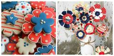Sweet Sugarbelle: Patriotic Paper Flower Cookies