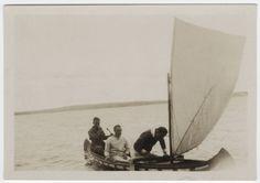 William Carlos Williams & Others in a Sailing Canoe, via pattiocleavis tumblr
