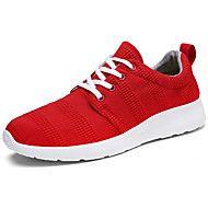 Αντρικό+Αθλητικά+Παπούτσια+Ανατομικό+Τούλι+Άνοιξη+Φθινόπωρο+Causal+Περπάτημα+Ανατομικό+Κορδόνια+Επίπεδο+Τακούνι+Μαύρο+Γκρίζο+Κόκκινο5εκ+-+–+EUR+€+28.61
