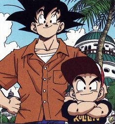 Goku And Krillin. Best friends for life. And then some. #SonGokuKakarot