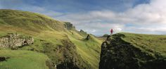 The Trotternish Peninsula, on the Isle of Skye, is famous for its spectacular rock formations. Some have names like The Needle and The Prison (pictured here), but you need a bird's-eye view and a vivid imagination to spot