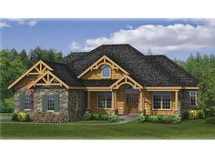 porch, DHSW075922 - Empty Nest House Plans - Collections