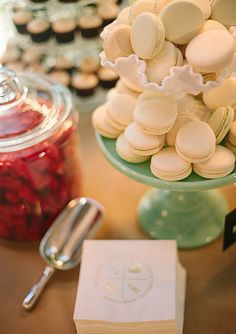 Macarons: Macarons are such pretty desserts that all you need to do is put them in a clear box, attach a cute tag or ribbon, and they're good to go!