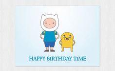 Funny birthday cardFinn & Jake Adventure Time  Happy di Cloudreams