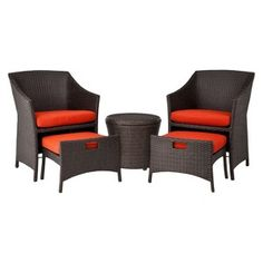 Target Home Loft 5 Piece Wicker Patio Conversation