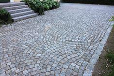 smågatsten stenläggning granit bågar trappa entré