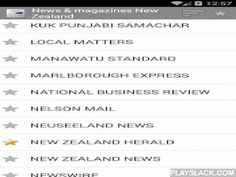 Newspapers From New Zealand  Android App - playslack.com ,  Newspapers and magazines from New Zealand. All in one application. With this application you have easy access to all press, news and journals from New Zealand. You have access to more than 40 newspapers. The application automatically ranks the newspapers that you read the most. You can easily share news within the various social networks. You can access all newspapers from NZ.Essential to keep up with all the news and headlines…
