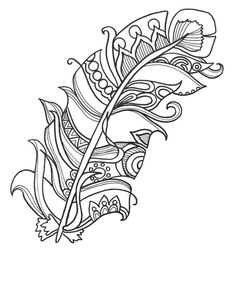 10 Fun And Funky Feather ColoringPages Original Art Coloring Book For AdultsColoring Therapy Color