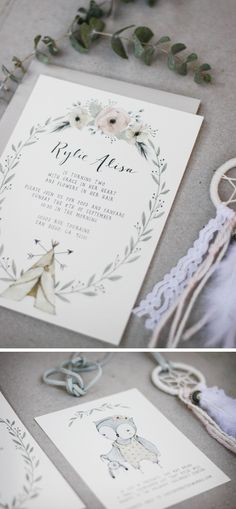 A recent custom invitation I did for a sweet client for her daughter's second birthday party. I loved creating this soft, bohemian inspired set! Children's invitations continue to be … Birthday Bash, Birthday Invitations, Wedding Invitations, Wedding Cards, Invitation Design, Invitation Cards, Grafik Design, Wedding Stationary, Illustrations