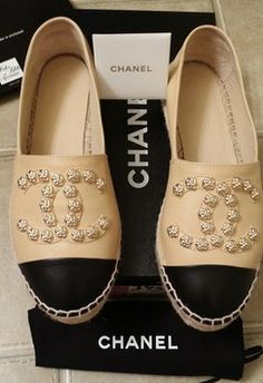 Chanel Camilla Flower Stud Leather 2015 Collection Espadrilles Flats. Get the must-have flats of this season! These Chanel Camilla Flower Stud Leather 2015 Collection Espadrilles Flats are a top 10 member favorite on Tradesy. Save on yours before they're sold out!