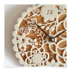 10 DIY Lacey Wall Clocks - I love this idea... and I have been looking for a wall clock I love, with no success.