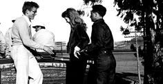 James Dean, Julie Harris and director Elia Kazan.