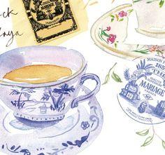 Tea time in Parisian tea room ~ by Lucile Prache
