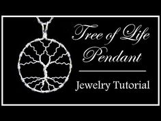 How to Make a Tree of Life Pendant : Easy Wire Wrapped Jewelry Tutorial Part 2 -… - Draht gewickelt Anhänger Wire Pendant, Wire Wrapped Pendant, Wire Wrapped Jewelry, Wire Jewelry, Diy Jewellery, Glass Jewelry, Stone Jewelry, Jewelry Rings, Jewlery