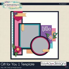 LissyKay Designs: Gift For You 1 Free Template