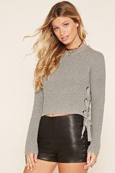 Contemporary Sweater Crop Top