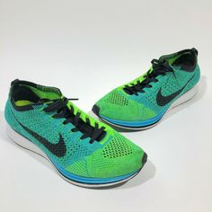 quality design f8560 f266f Mens Nike Flyknit Racer Turquoise Lucid Green Sz 9.5 #fashion #clothing # shoes #