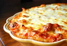 Baked Ziti with Mini Meatballs - A little work but sounds yummy.  adapted from Giada De Laurentiis