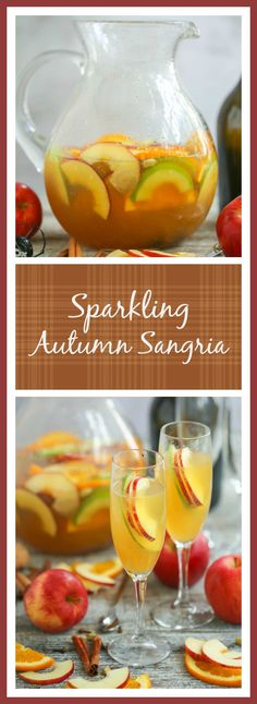 Time to rethink your summer sangria. This sparkling autumn sangria is filled with crisp apples, juicy orange slices and warm fall spices....the perfect finish to a day of apple picking or pumpkin carving.