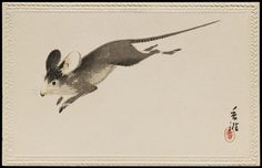 Mouse' ( Late Meiji–early Shôwa era ).  Colour lithograph by Artist Unidentified, Japanese   Image and text courtesy MFA Boston.
