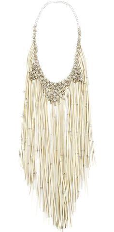 Silver sparkle & fringe necklace!  Too good.
