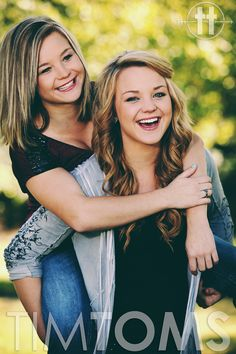 Twin Sisters Girls Senior Picture Portraits Photo Photograph Pose Idea  www.PhotographyByTimToms.com